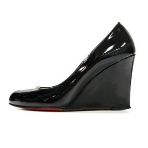 Authentic Christian Louboutin Black Patent wedges